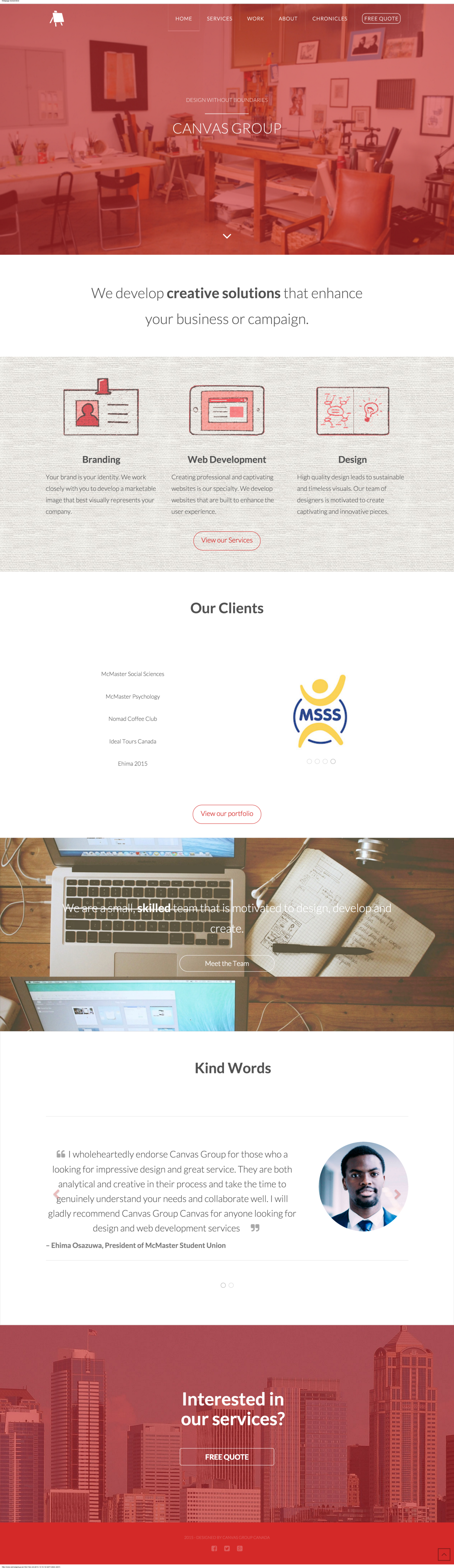 Canvas Group   Design Without Boundaries